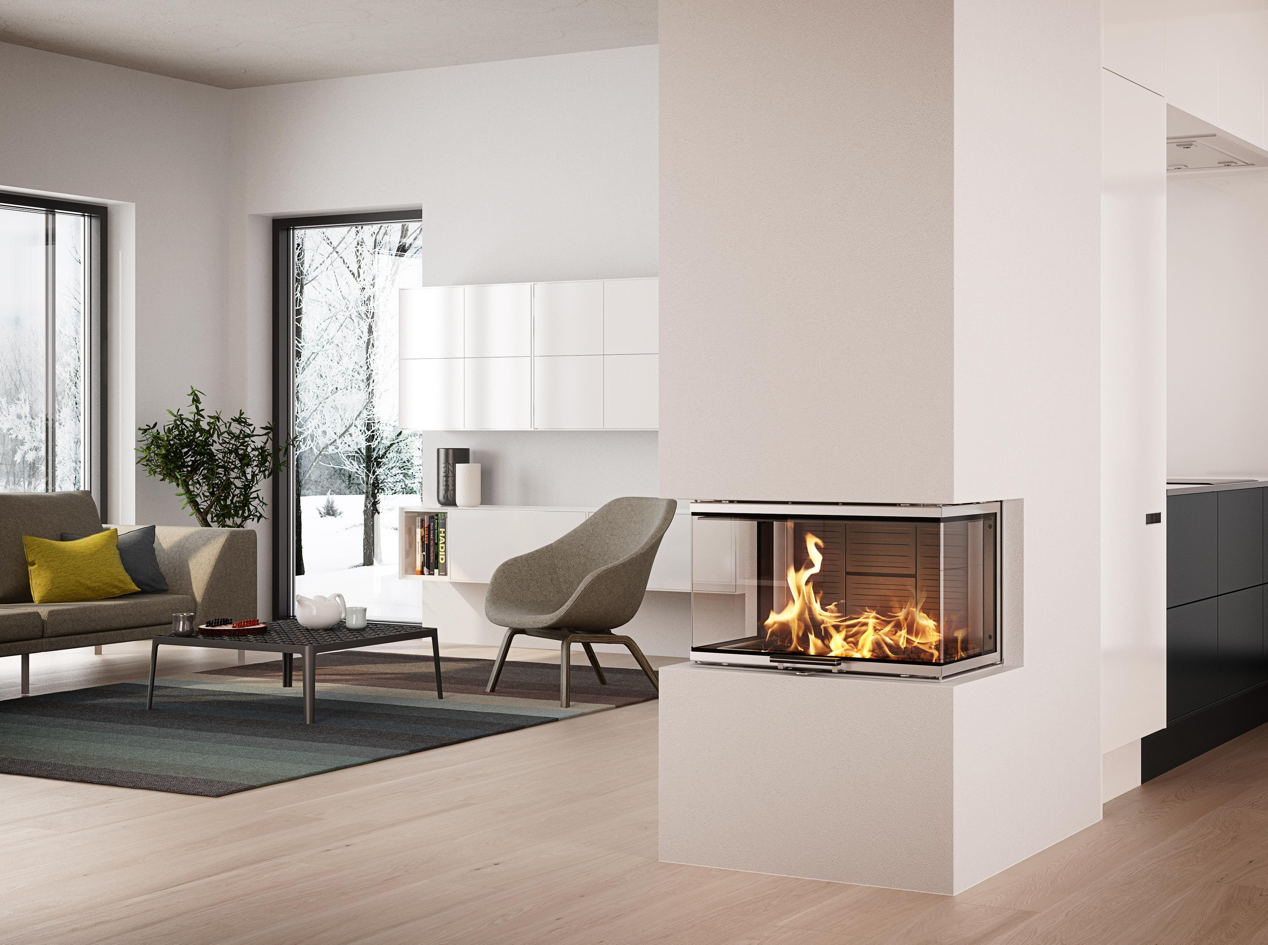 Picture of Livingroom with Rais woodburner