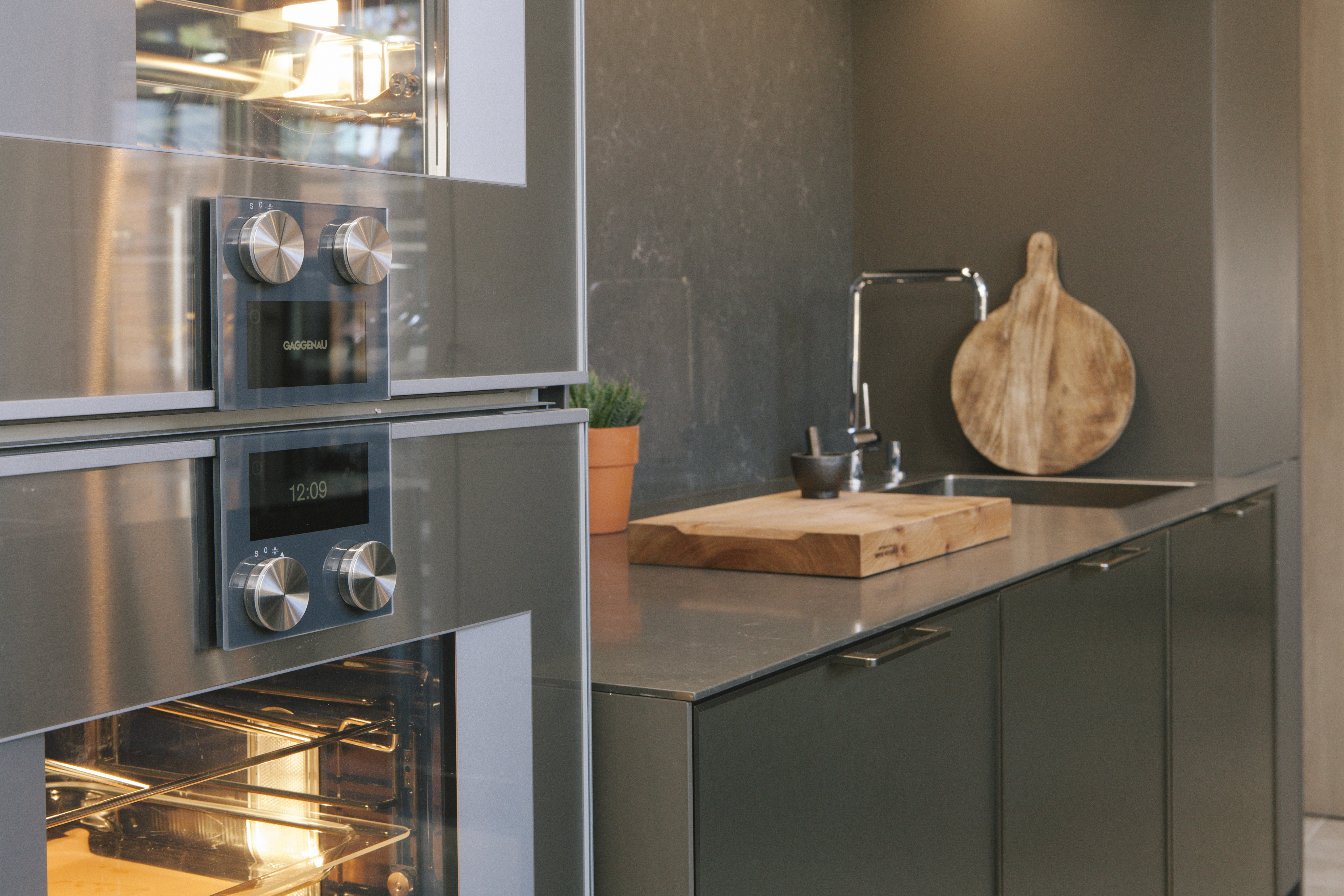 A luxury kitchen from SieMatic with Gaggenau appliances