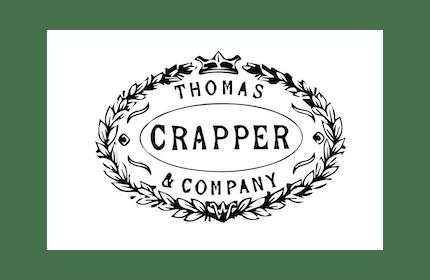 White and Black Thomas Crapper Logo