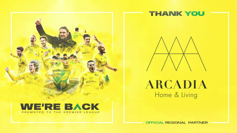 Thank you to Arcadia Home & Living for supporting NCFC as regional partners
